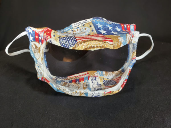 The Proud Patriot Mask with clear window / Clear Mask