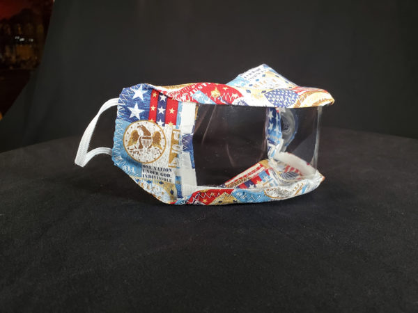 The Proud Patriot See thru Masks / Clear Mask