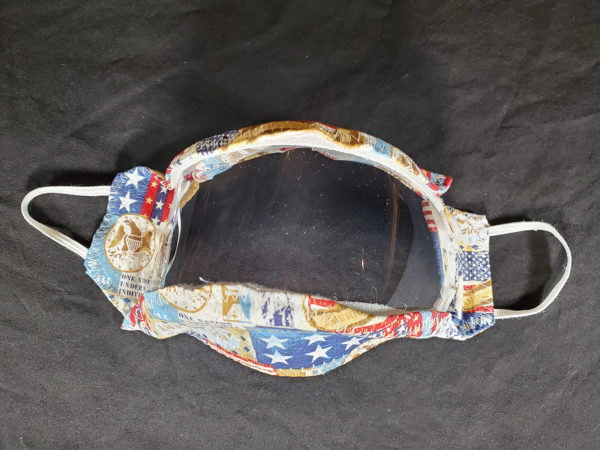 The Proud Patriot See thru Face Masks / Clear Mask